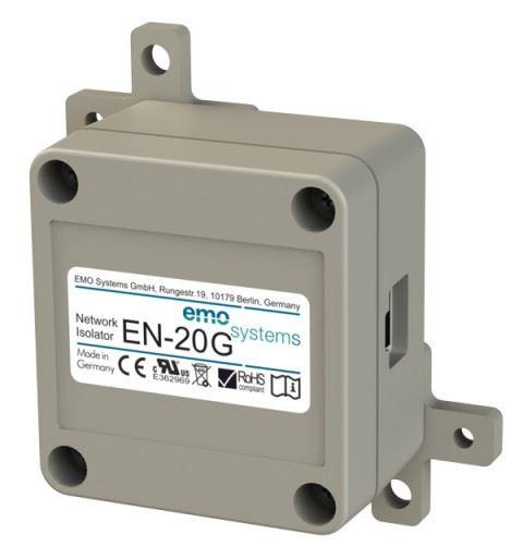 EMO Systems Emosafe EN-20G RJ45 Enclosed Medical Ethernet Isolator