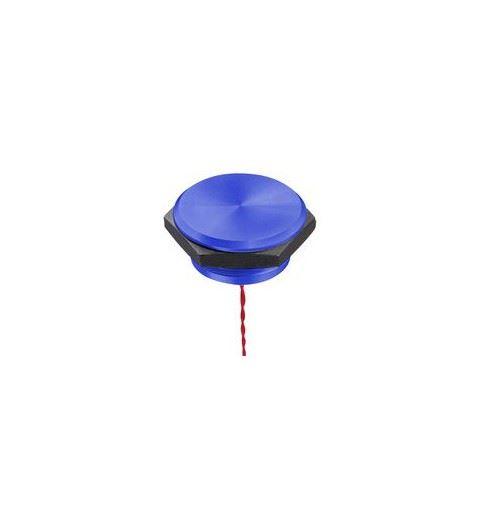 APEM PBAT5AF1002 Piezo Flat Button 16mm. Blue Anodized Aluminum