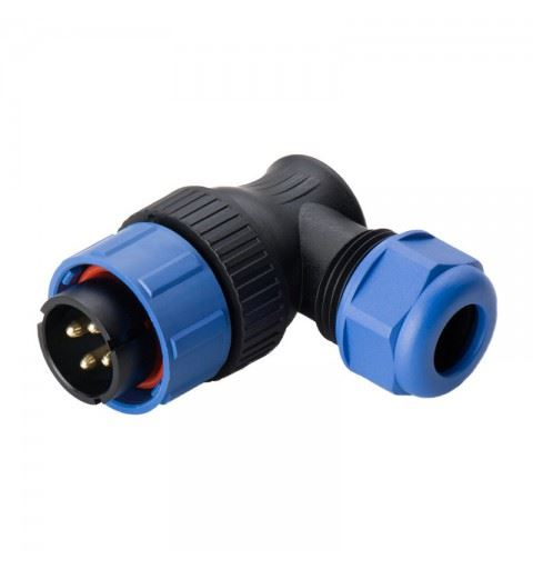WEIPU SP2116/P5II-1N Male Connector 90° 5 Pole 30A 500V Ring 7-12mm solder