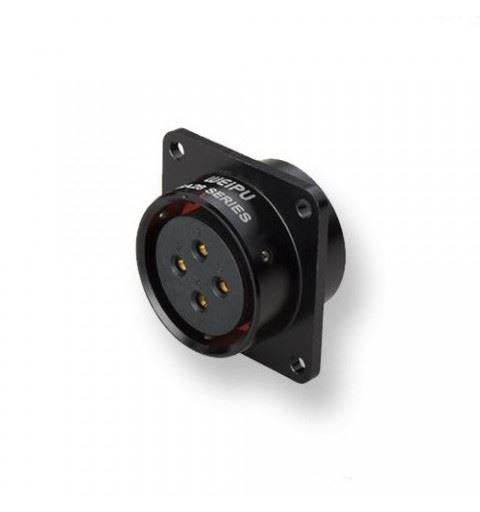 WEIPU SA2813/S16B-1 Connettore Push-pull 16 Poli Femmina Pannello solder Black