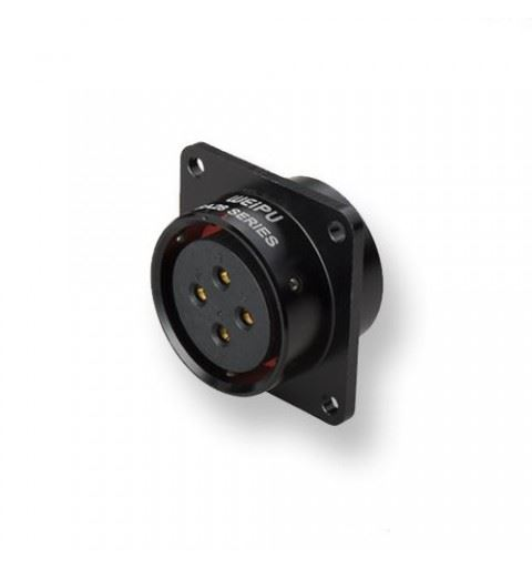 WEIPU SA2813/S16B-1 Push-pull 16 pole connector Female Panel solder Black