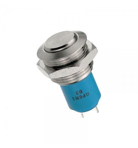 APEM AV0611A200 16mm Bistable On / Off Vandalproof Switch Solder
