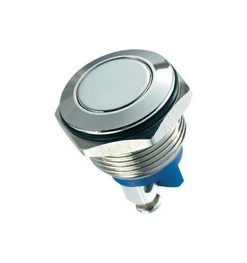 APEM AV1630C900 Vandal-proof push button 16mm nickel-plated brass 48Vdc IP65 curved actuator