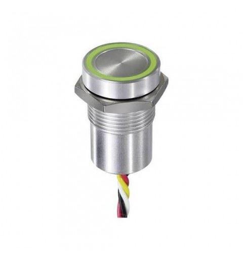 APEM CPB1111000K0BS Pulsante Capacitivo Anodizzato Blu 16mm NO Led Blu 24Vdc