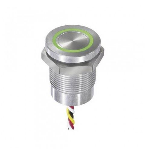 APEM CPB2110000N2AC Capacitive button 19mm. NO 12Vdc ro/ve c/fili