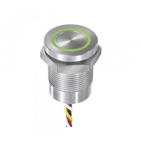 APEM CPB2110000N2AC Pulsante Capacitivo 19mm. NO 12Vdc ro/ve c/fili