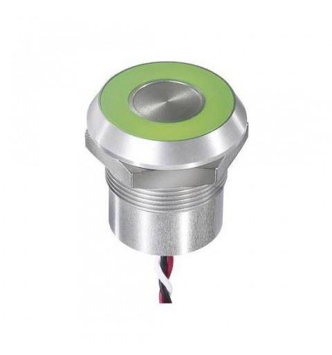 APEM CPB3110000H0GC Capacitive button 22mm. NO Led Verde 24Vdc
