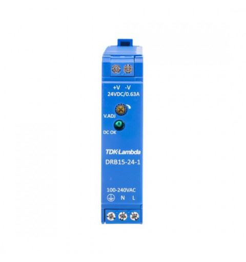 TDK-Lambda DRB15-24-1 Alimentatore Din Rail 15W 24Vdc