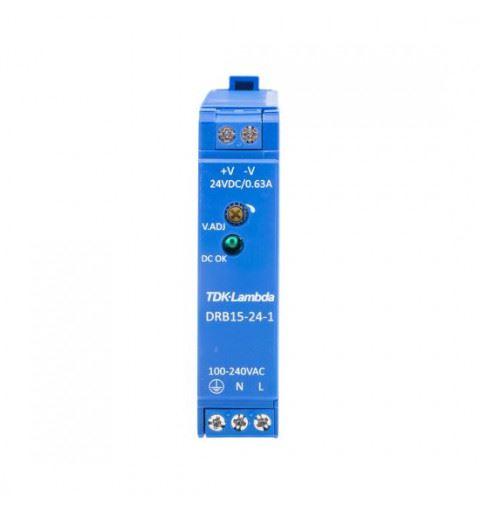 TDK-Lambda DRB15-24-1 Power Supply Din Rail 15W 24Vdc