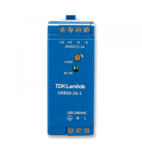 TDK-Lambda DRB50-48-1 Power Supply Din Rail  50W  48Vdc