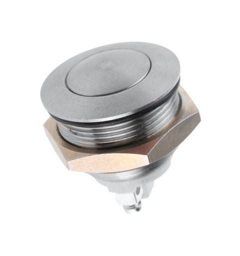 APEM AV03100EA800 Vandalproof button Ø22mm nichel On/On 48Vdc
