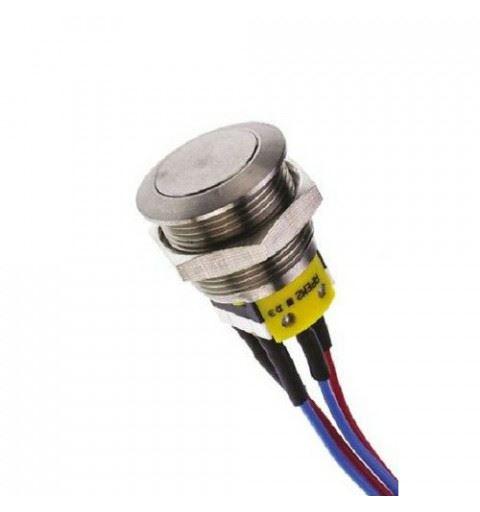 APEM AV3512F1020700 Vandalproof button Ø22mm nichel No/Nc 30Vdc 1A