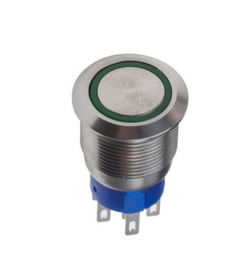 APEM AV300220000340K Pulsante Antivandalo Ø22mm inox No/Nc 30Vdc