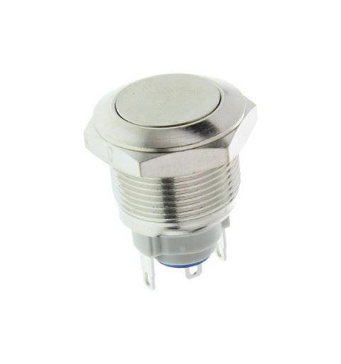 APEM AV09100EA200 Vandal-proof push-button Ø19mm bistable nickel brass 48Vdc 2A solder