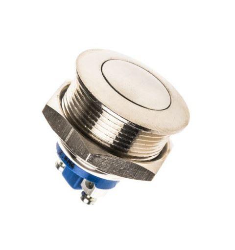 APEM AV09003A900K Vandal-proof Push-button Ø19mm nickel brass No 12Vdc 4A IP65 screw