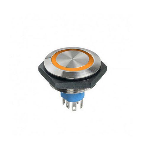 APEM AV50022000074BK Anti-vandal push button Ø30mm stainless steel No / Nc IP67 Solder