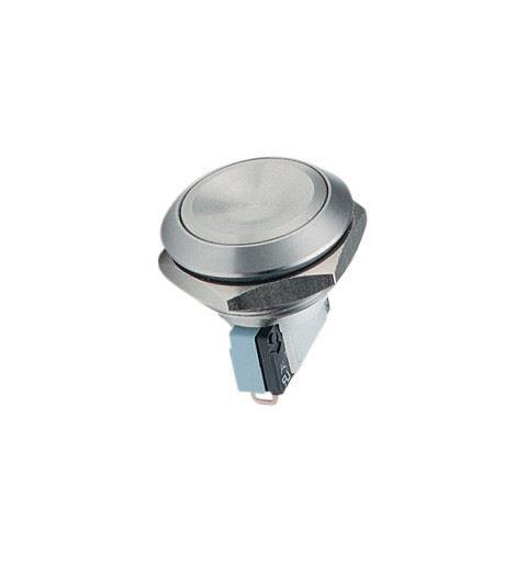 APEM AV24LB4044 Pulsante Antivandalo 24mm Inox No/Nc 5A 250V IP65