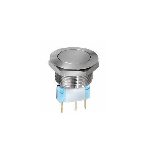 APEM AV24LP4044 Pulsante Antivandalo 24mm Inox No/Nc 5A 250V IP65