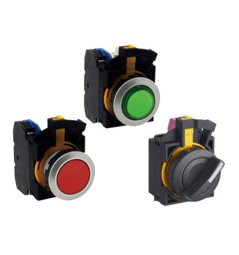 IDEC CW Series ø22mm Buttons, Selectors, Indicator lamps 22 mm