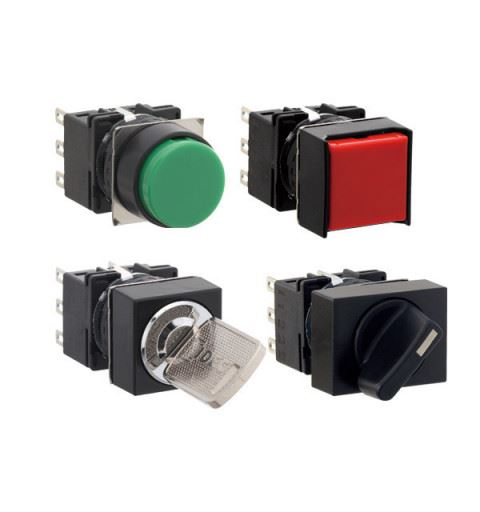 IDEC LB Serie ø16mm Pulsanti, Selettori, Lampade spia 16 mm
