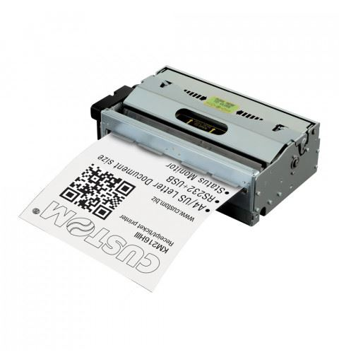 Custom KM216HIII ETH USB RS232 Thermal A4 Printer with Ejector 200 dpi