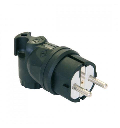 PCE 05811-s TAURUS 90° Schuko plug 2P+PE 16A 250V Black, PA6