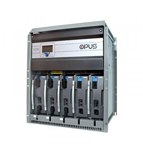 "Efore OPUS C 24 5.5 R 12U F Cabinet 12U-19"" 24Vdc up to 5.5kW with 5 MRC modules slots"
