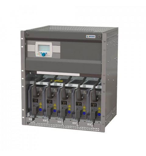 "ENEDO OPUS HE 60-10.0 R 12U F Cabinet 12U-19"" 60Vdc up to 10.0kW with 5 MHE modules slots"