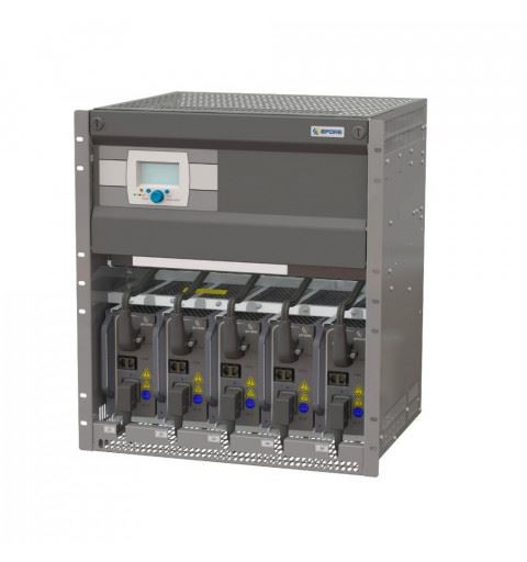 """Efore OPUS HE 60-10.0 R 12U P Cabinet 12U-19"""" 60Vdc up to 10.0kW with 5 MHE modules slots"""