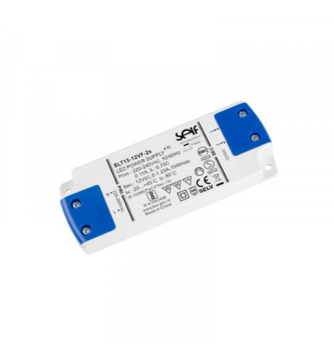 Self SLT15-12VF-2S Driver LED Constant Voltage 15watt 12Vdc 1,25A IP20