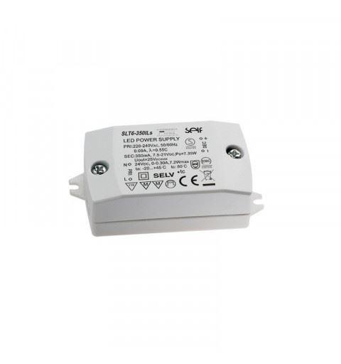Self SLT6-350ILS Driver LED CC+CV 6watt 7,5-21Vdc 350mA or 24vdc 300mA IP20