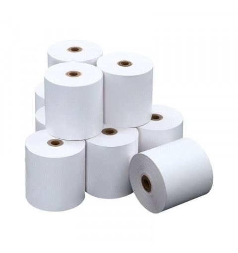 Roll CT57X30 White Thermal Paper 10mt. De30 Foro12 La58 55gr/mq
