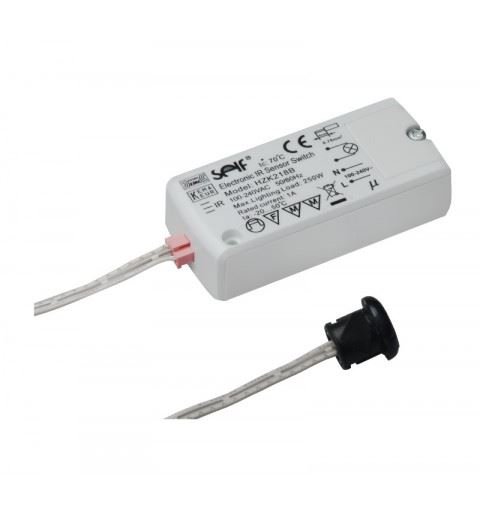 Self Electronics HZK218B Line Voltage IR Sensor Switch On/Off door application100-240watt 100-240Vac 1A IP20