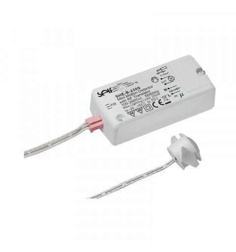 Self Electronics SHE-B-250S Sensore a infrarossi passivo PIR 100-240V 1A con crepuscolare e wireless