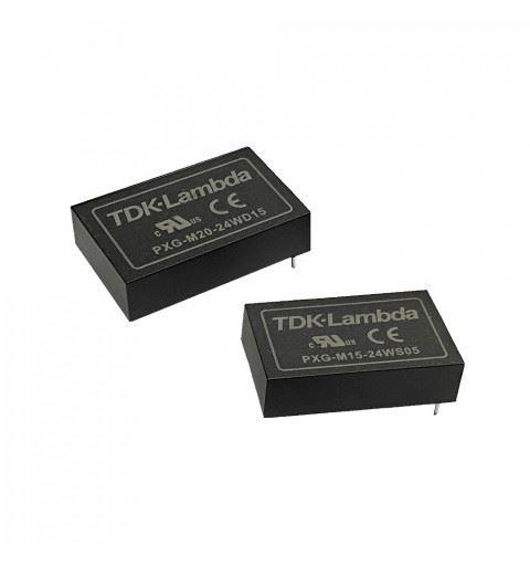TDK-Lambda PXG-M20-24WD05 Medical DC/DC Converter 20watt 5Vdc; -5Vdc; 2A; -2A