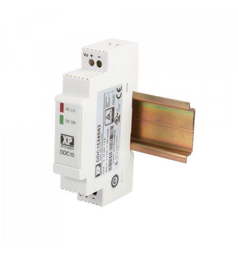XP Power DDC1524S15 DC/DC Converter Din Rail 15watt Vin: 9-36Vdc Vout: 15Vdc Iout: 1A