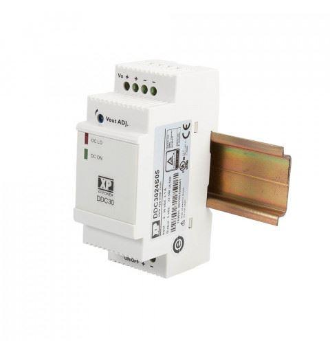 XP Power DDC3024S12 DC/DC Converter Din Rail 30watt Vin: 9-36Vdc Vout: 12Vdc Iout: 2,5A