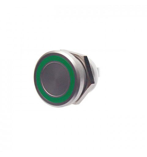 APEM PBARZAFB031E3A Piezo button 22mm. stainless steel ill.Ro-Ve-Bl 24Vac/dc IP68 wires 60cm.