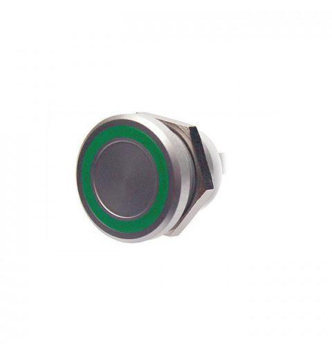 APEM PBARZAFB031E3A Pulsante piezo 22mm. acciaio inox colore Rosso-Verde-blu 24Vac/dc IP68 fili 60cm. contatto 200mA