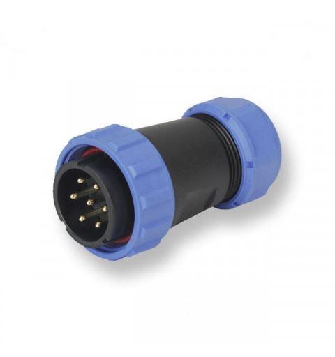 WEIPU SP2910/P7-2N Connettore Waterproof Maschio 7 Poli Ring 13-16mm vite