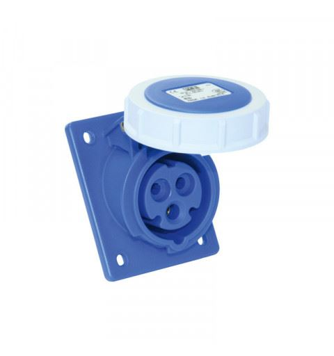 PCE 433-6 Flanged socket sloping 63A 3P 6h IP67 POWER TWIST