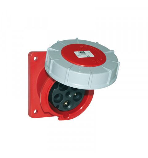 PCE 433-9 Flanged socket sloping 63A 3P 9h IP67 POWER TWIST