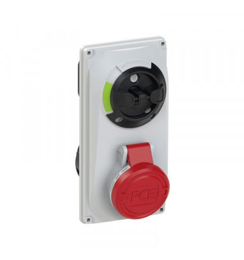 6024-6 PCE Switch Interlocked sockets Compact 32A 4p 6h IP44