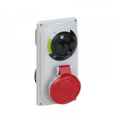 6014-6 PCE Switch Interlocked sockets Compact 16A 4p 6h IP44