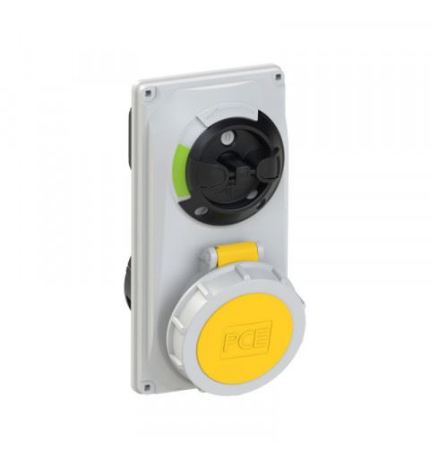 PCE 60142-4 PCE Switch Interlocked sockets Compact 16A 4p 4h IP66/67
