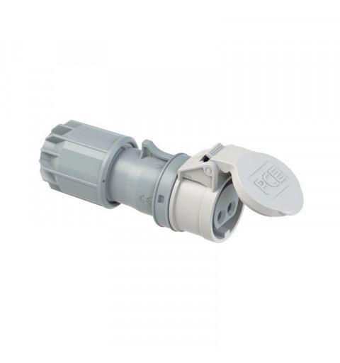 PCE 282-12v Flying socket 16A 2P 42V 12h IP44 TWIST