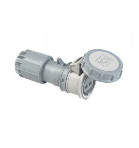 PCE 2822-10v Flying socket 16A 2P 24/42Vdc 10h IP67 TWIST