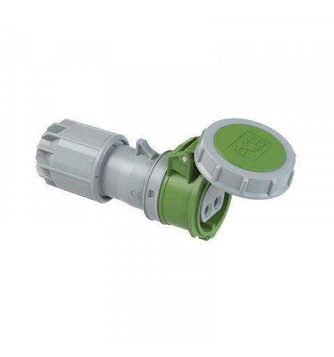 PCE 2822-11v Flying socket 16A 2P 24/42V 11h IP67 TWIST