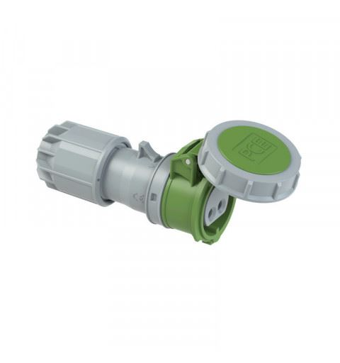 PCE 2822-2v Flying socket 16A 2P 24/42V 2h IP67 TWIST