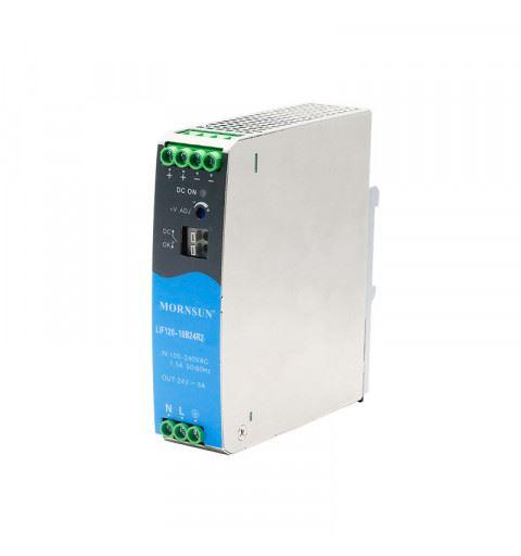 Mornsun LIF120-10B24R2 Din-Rail AC/DC power supply 120watt 24Vdc